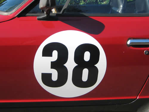 Magnetic Decal Race Number Meatballs Ovals